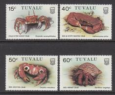 1986 Tuvalu Crabs Complete Set Of 4 MNH - Tuvalu