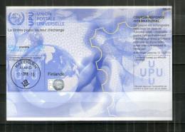 2628 IRC IAS CRI - International Reply Coupon - Antwortschein T34 Mit Stempel Finlande Finnland/Aland FI20120815AI - Aland