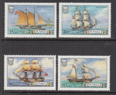 1986 Tuvalu Sailing Ships  Complete Set Of 4 MNH - Tuvalu