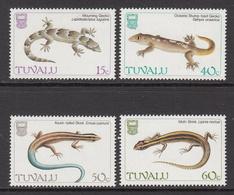 1986 Tuvalu Geckos  Complete Set Of 4 MNH - Tuvalu