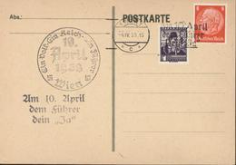 Complaisance Commémorative Affranchissement Mixte YT Allemagne 446 + Autriche 441 Ein Volk Ein Reich Ein Führer - Briefe U. Dokumente