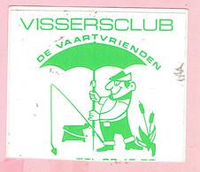 Sticker - Vissersclub - DE VAARTVRIENDEN - Autocollants