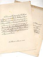Mariage 1912 Deux Feuilles Cartuyvels De Collaert & Henry D'Oldenneel De Heerenbrinck Bruxelles La Plante Fallon Namur - Wedding