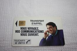 Télécarte France  F18 TRANSFERT D'APPEL  50u  SO2  BE - Frankrijk