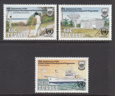 1990 Tuvalu UNDP Fishing Ships Survey Complete Set Of 3 MNH - Tuvalu