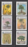 1990 Tuvalu Tropical Trees Arbres Complete Set Of 6 MNH - Tuvalu (fr. Elliceinseln)