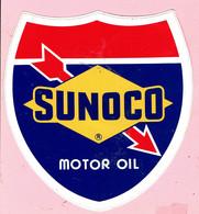 Sticker - SUNOCO - MOTOR OIL - Autocollants