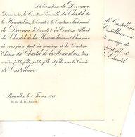 1912 Mariage 2 Feuilles Th Du Chastel De La Howardries & De Castellane De Divonne Bruxelles Gironde Champagne Épernay La - Wedding