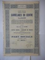 Carrelages Du CENTRE La LOUVIERE - Aandelen