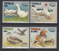 1997 Tuvalu Ducks And Drakes Birds Complete  Set Of 4 MNH - Tuvalu