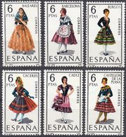 ESPAÑA - SPAGNA - SPAIN - ESPAGNE- 1967 - Serie Completa Di 6 Valori Nuovi MNH: Yvert 1455/1460. - 1931-Oggi: 2. Rep. - ... Juan Carlos I