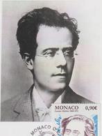 Carte Maximum MONACO N° Yvert 2702 (Gustav MAHLER) Obl Sp Ill 1er Jour - Cartoline Maximum