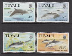 1998 Tuvalu Dolphins Porpoises Marine Mammals  Complete  Set Of 4 MNH - Tuvalu
