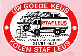 Sticker - Kolen STAF LEUS - Wilgendaalstraat Schoten - - Autocollants