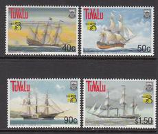 1999 Tuvalu Ausipex Ships History Explorers  Complete  Set Of 4 MNH - Tuvalu