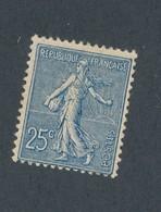 FRANCE - N°YT 132 NEUF* AVEC CHARNIERE - COTE YT : 80€ - 1906 - 1903-60 Semeuse Lignée