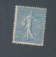 FRANCE - N°YT 132 NEUF** SANS CHARNIERE AVEC GOMME NON ORIGINALE (GNO) - COTE YT : 80€ - 1906 - 1903-60 Semeuse Lignée