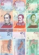 VENEZUELA set (3v) 2,5,10 Bolivares Soberanos 2018 P 101 - 103 UNC - Venezuela