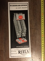 ANNEES 60 PUBLICITE BONBON CHEWING GUM RIZLA PARIS - Alte Papiere