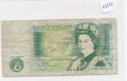 Numismatique -B3616-Grande Bretagne -1 Pound ( Catégorie,  Nature état ... Se Référer Au Double Scan)-Envoi Gratuit - Bankbiljetten