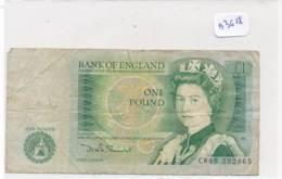 Numismatique -B3618-Grande Bretagne -1 Pound ( Catégorie,  Nature état ... Se Référer Au Double Scan)-Envoi Gratuit - Bankbiljetten