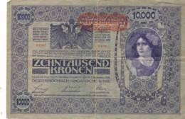 Numismatique -B3614-Autriche 1918 10 000 Kronen ( Catégorie,  Nature état ... Se Référer Au Double Scan)-Envoi Gratuit - Austria