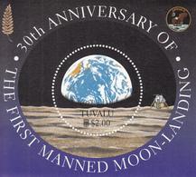 1999  Tuvalu Space Moon Landing Complete  Set Of 1 Souvenir Sheet MNH - Tuvalu