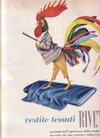 (pagine-pages)PUBBLICITA' RIVETTI     Settimanaincom1961/18. - Libri, Riviste, Fumetti