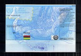 7174 IRC IAS CRI - International Reply Coupon - Antwortschein T37  Maurice Mauritius RS72.00   MU20130905AA - Mauritius (1968-...)