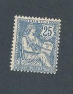 FRANCE - N°YT 127 NEUF* AVEC CHARNIERE - COTE YT : 120€ - 1902 - 1900-02 Mouchon