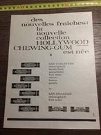 ANNEES 60 PUBLICITE RARE CHEWING GUM HOLLYWOOD - Alte Papiere