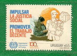 1669 URUGUAY-2019-Centenario De La OIT.TT:Sombreros,Logos,Plantas,Anivers. - Uruguay