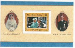 1997  Tuvalu QEII Wedding Anniversary Complete  Set Of 1 Souvenir Sheet MNH - Tuvalu
