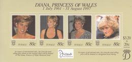 1998  Tuvalu Princess Diana Complete  Set Of 1 Souvenir Sheet MNH - Tuvalu