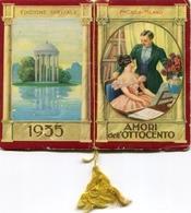 "Calendario-Calendarietto-Calendrier-Kalender-Calendar-1935 ""Amori Dell'Ottocento""Completo- Integro E Originale 100% - Calendars"