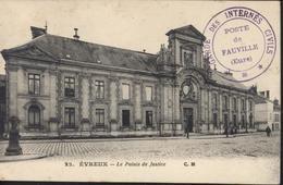 Guerre 14 18 CPA Evreux Cachet Gare Des Internés Civils Poste De Fauville Eure CAD Evreux 6 6 16 Arrivée St Maixent - Postmark Collection (Covers)