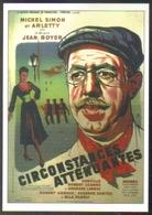 Carte Postale Illustration Mariani (cinéma Affiche Film) Circonstances Atténuantes (Michel Simon - Arletty) - Affiches Sur Carte