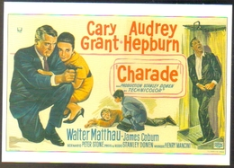 Carte Postale (cinéma Affiche Film) Charade (Gary Grant - Audrey Hepburn) - Affiches Sur Carte