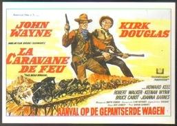 Carte Postale (cinéma Affiche Film Western) La Caravane De Feu (John Wayne - Kirk Douglas) - Affiches Sur Carte