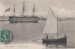 """CPA Brest - Vue Sur La Rade (avec """"Trois-Mâts"""") - Brest"""