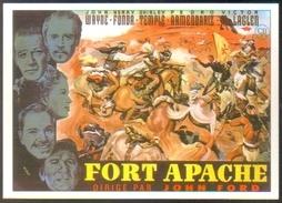 Carte Postale (cinéma Affiche Film Western) Fort Apache (John Wayne - Henry Fonda - Shirley Temple) - Affiches Sur Carte