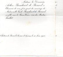 1912 Mariage 2 Feuilles Bosschaert De Bouwel & Werner Van Der Straten Waillet Anvers Marche  De Brouchoven De Bergeyck - Mariage