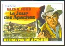 Carte Postale (cinéma Affiche Film Western) Le Jour Des Apaches (Glenn Ford) - Affiches Sur Carte