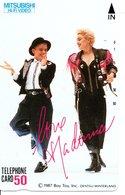 Madonna  Chanteuse Chansons Musique Disque - Star Télécarte Privée Japon  G 169)) - Musique