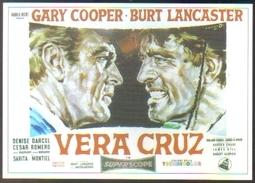 Carte Postale Illustration : Angelo Cesselon (cinéma Affiche Film Western) Vera Cruz (Gary Cooper - Burt Lancaster) - Affiches Sur Carte