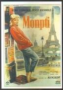 Carte Postale (cinéma Affiche Film) Monpti (Romy Schneider) (Tour Eiffel) - Affiches Sur Carte