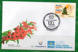 1669b URUGUAY-2019-Centenario De La OIT.TT:Sombreros,Logos,Plantas,Anivers. - Uruguay
