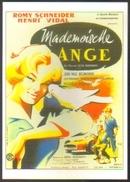 Carte Postale Illustration : Clément Hurel (cinéma Affiche Film) Mademoiselle Ange (Romy Schneider) (colombe) - Affiches Sur Carte