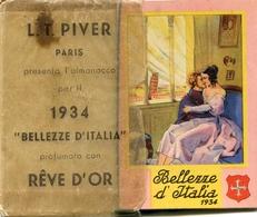 "Calendario-Calendarietto-Calendrier-Kalender-Calendar-1934 ""Bellezze D'Italia""Completo- Integro E Originale 100% - Calendars"