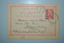 Perse 1913 Carte Postale Perse Vers Belgique - Iran